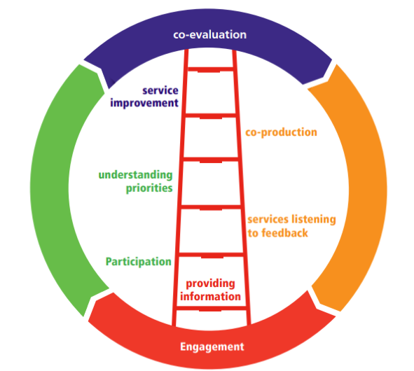 graphic representing the coproduction ladder